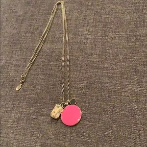 Ann Taylor long gold pendant necklace